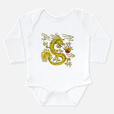 Golden Dragon Long Sleeve Infant Bodysuit