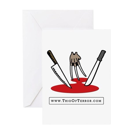 Trio Of Terror Greeting Card