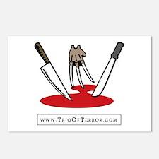 Trio Of Terror Postcards (Package of 8)