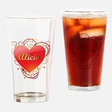 Alicia Valentines Drinking Glass