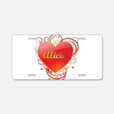 Alicia Valentines Aluminum License Plate