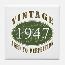 Vintage 1947 Retro Tile Coaster