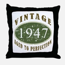 Vintage 1947 Retro Throw Pillow