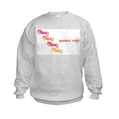 ponies rule (multi) Sweatshirt