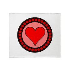 Sealed Heart Throw Blanket