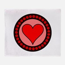 Sealed Heart Throw Blanket