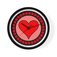 Sealed Heart Wall Clock
