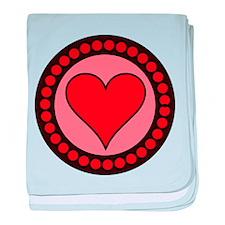 Sealed Heart baby blanket