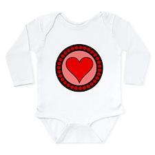 Sealed Heart Long Sleeve Infant Bodysuit