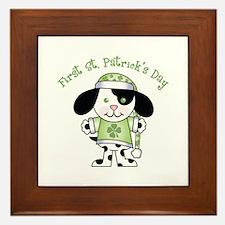 1st St Pats Puppy Framed Tile
