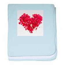 Confetti Heart baby blanket
