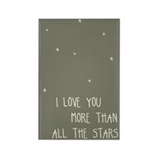 I Love You More than All the Rectangle Magnet