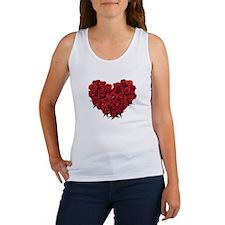 Rosy Heart Women's Tank Top