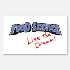 Food Service - LTD Sticker (Rectangle)