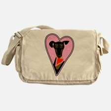 My Valentine Dog Messenger Bag