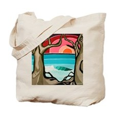 Trees and Wave Tote Bag
