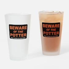 Beware / Potter Drinking Glass