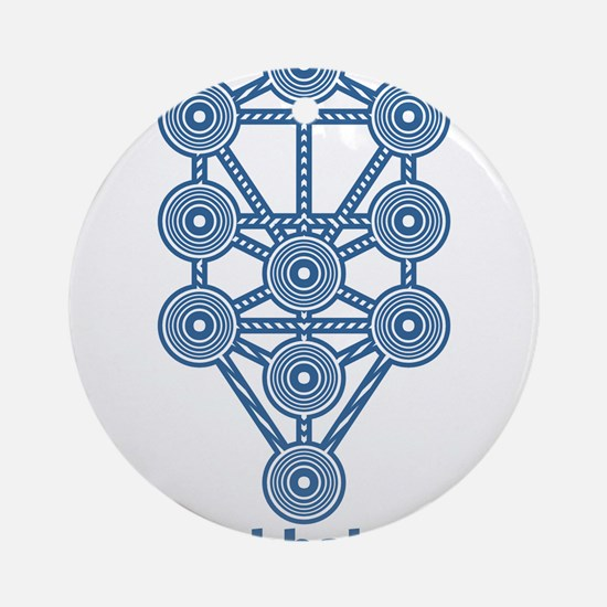 Kabbalah Tree of Life Round Ornament