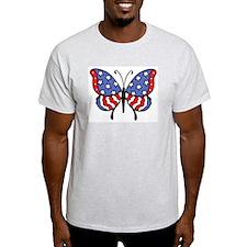 American Butterfly Ash Grey T-Shirt