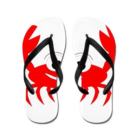 crab design flip flops by wildlife4