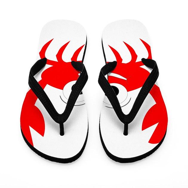 Crab Design Flip Flops by Wildlife4