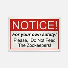 Notice / Zookeepers Rectangle Magnet