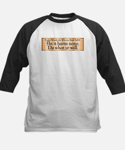 Wiccan Rede Kids Baseball Jersey