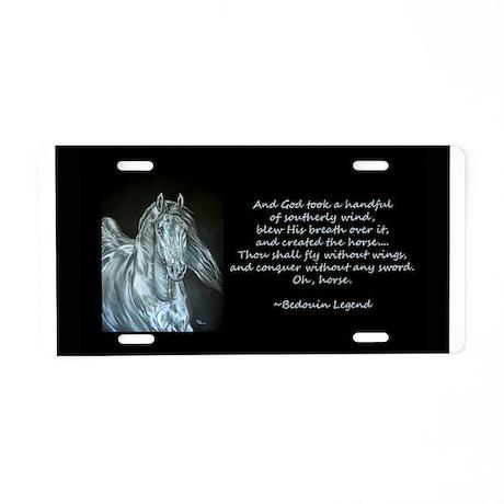 Legend of the Horse Aluminum License Plate