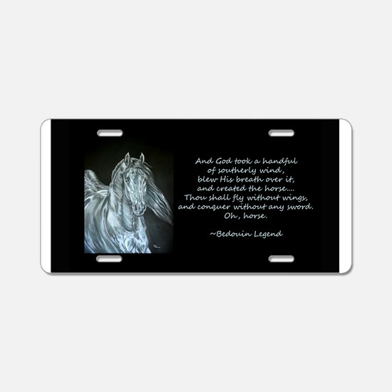 Legend of the Horse Aluminum License Plate