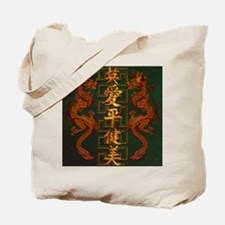 Harvest Moon's Fiery Dragons Tote Bag