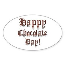 Happy Chocolate Day Oval Decal