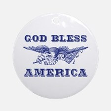 God Bless America Ornament (Round)