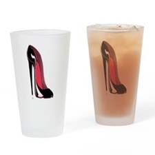 Black Stiletto Shoe Drinking Glass