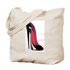 Black Stiletto Shoe Tote Bag