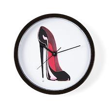 Black Stiletto Shoe Wall Clock