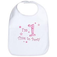 First / 1st birthday baby girl Bib