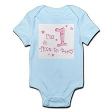 First / 1st birthday baby girl Infant Creeper
