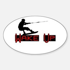 Wake Up 1 Sticker (Oval)