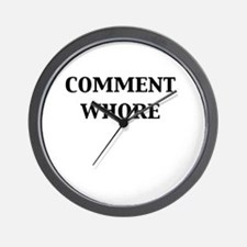 Comment Whore Wall Clock