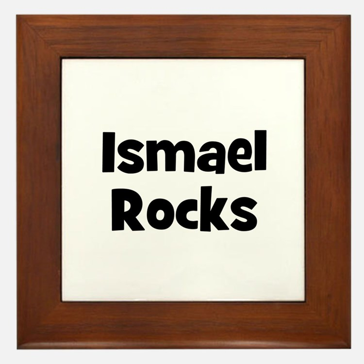 Ismael Rocks Framed Tile
