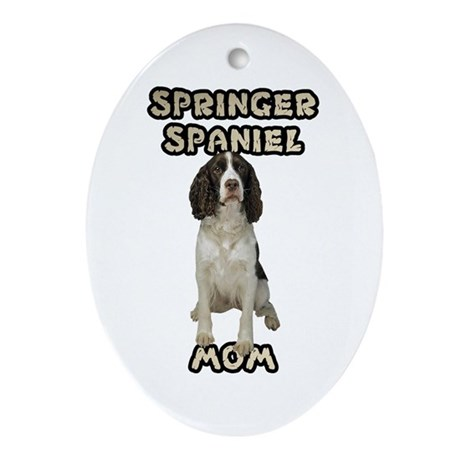 Springer Spaniel Mom Ornament (Oval)