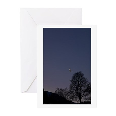 Auffach Moonset Greeting Cards (Pk of 20)