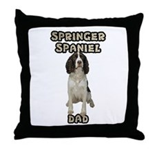 Springer Spaniel Dad Throw Pillow