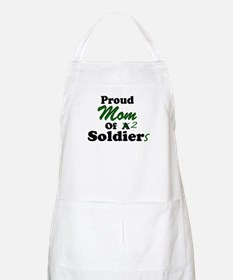 Proud Mom 2 Soldiers BBQ Apron