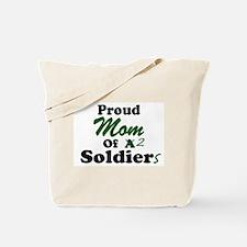 Proud Mom 2 Soldiers Tote Bag
