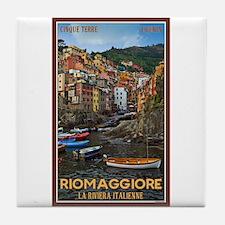 Riomaggiore Tile Coaster