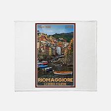 Riomaggiore Throw Blanket
