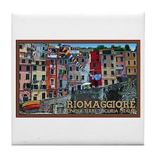 Riomaggiore Waterfront Tile Coaster