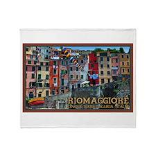 Riomaggiore Waterfront Throw Blanket