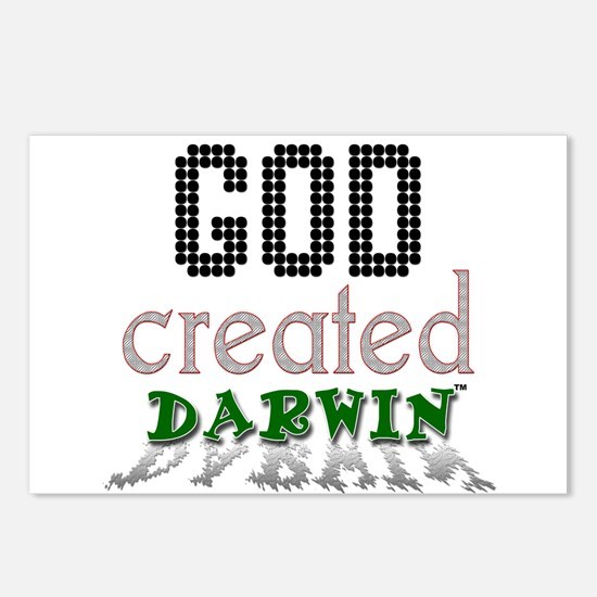 God Created Darwin Postcards (Package of 8)
